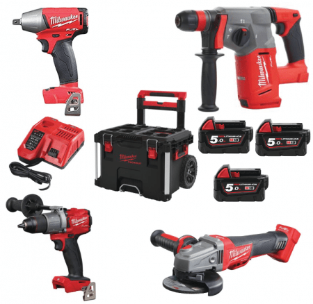set orodja milwaukee M18 FPP4A-503P