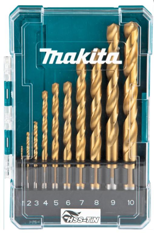 MAKITA 10-delni set HSS-TiN svedrov za kovino 1-10mmD-72849