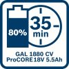 Začetni komplet 1 x ProCORE18V 4.0Ah + 1 x ProCORE18V 5.5Ah + GAL 1880 CV